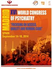 XVI Congreso Mundial de Psiquiatría. Madrid, 14 a 19 de Septiembre de 2014