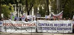 Movilización en defensa de la Psicología Clínica frente al Ministerio de Sanidad (7-10-2011)